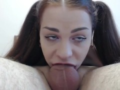 Extreme deepthroat blowjob
